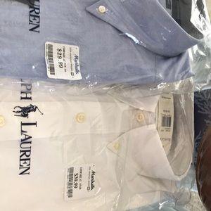 2 men's 15 1/2 32/33 new shirts